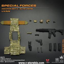 E&S 06027 Special Forces Weapon Set C Elite Units LVAW Set D