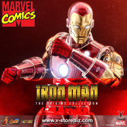 Hot Toys CMS07D37 Marvel Comics - Iron Man [The Origins Collection]