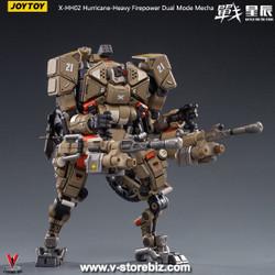 JOYTOY 1/18 X-HH02 Hurricane-Heavy Firepower Dual Mode Mecha (Sand)