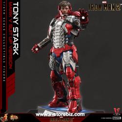 Hot Toys MMS599 Iron Man 2 Tony Stark (Mark V Suit up Version)