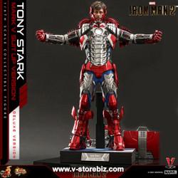 Hot Toys MMS600 Iron Man 2 Tony Stark (Mark V Suit up Version) Deluxe Version