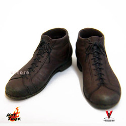 Hot Toys MMS194 Barney Ross Brown Shoes