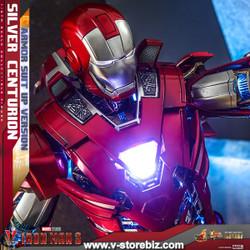Hot Toys MMS618D43 Iron Man 3 : Silver Centurion (Armor Suit Up Version)