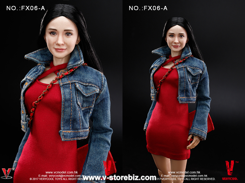 Very Cool FX06A Asian Actress Headsculpt with Black Straight Hair & 3.0 Female Body