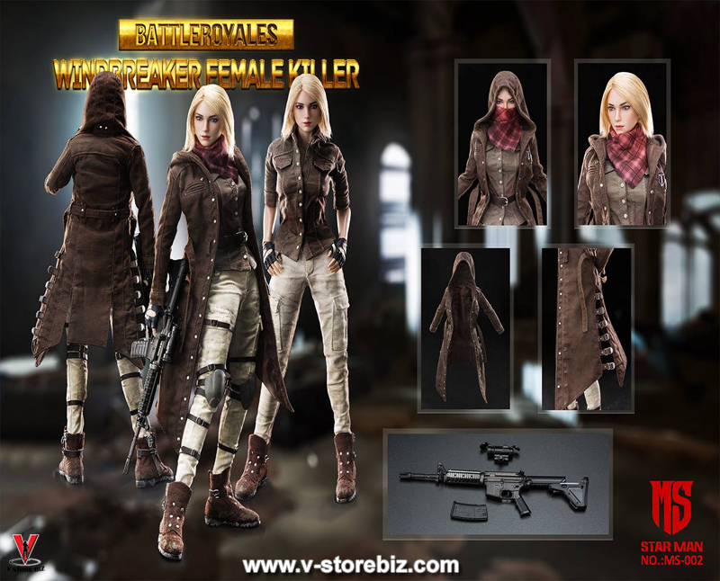 Star Man MS-002 Female Windbreaker Battle Royale Killer