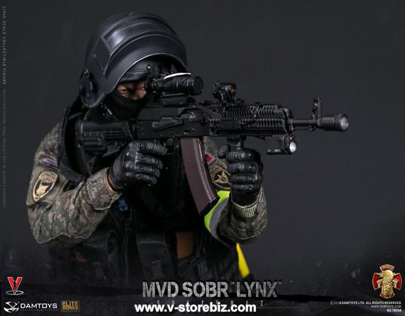 SOBR LYNX Figure IN STOCK DAM Toys 78058 RUSSIAN SPETSNAZ MVD
