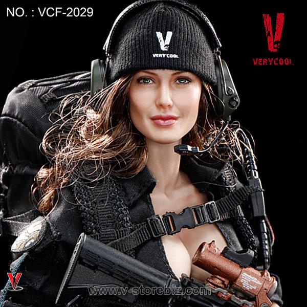 TB League FG Female Black Beanie Hat w// Back Strap Hot Toys 1//6 Phicen
