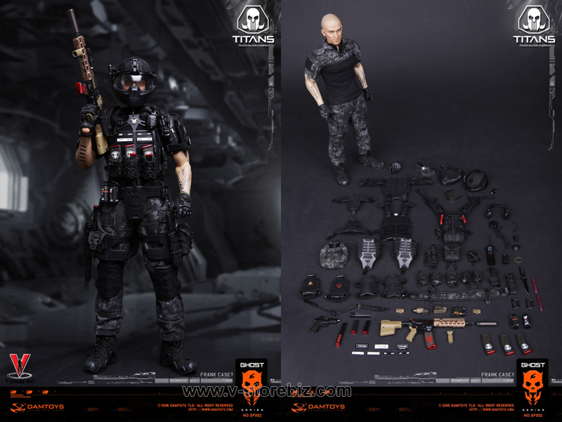 1//6 Scale DAMTOYS SF002 GHOST SERIE TITANS PMC Frank Casey Pelvic protection