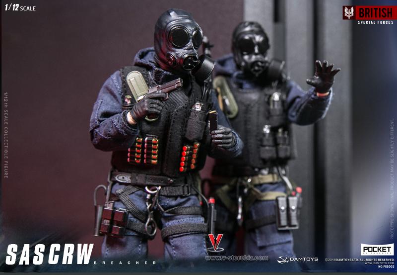 Black Tactical Vest 1//12 Scale Toy SAS CRW Assaulter
