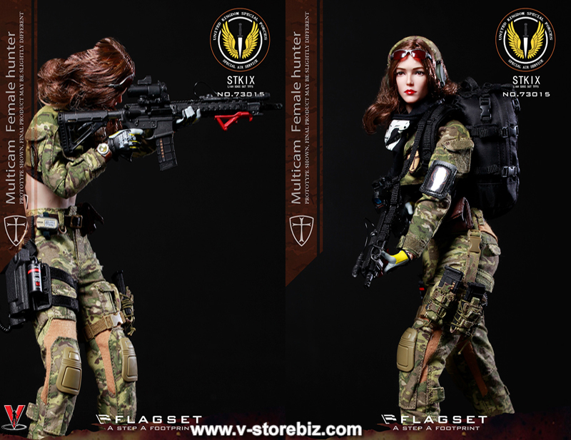 1//6 FLAGSET FS-73015 MC War Angel Angela Female Soldier Hunter Figure Shotgun