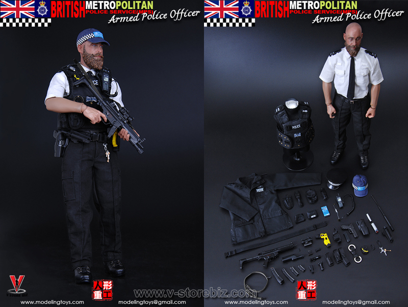 """Modeling Toys 1//6 Scale 12/"""" British Metropolitan Police Armed Officer MMS9002"""