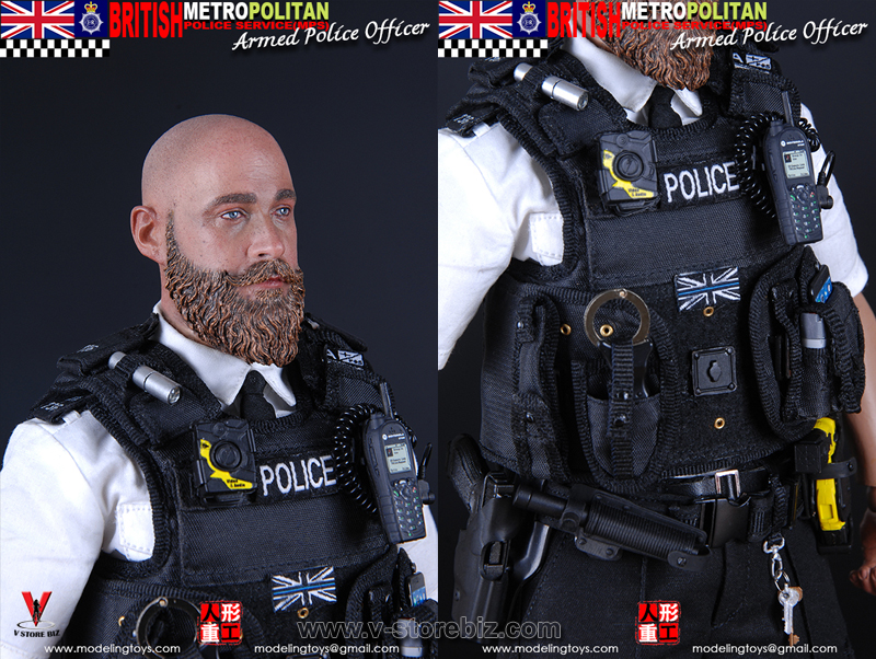 MODELING TOYS BRITISH METROPOLITAIN  POLICE SERVICE ARMED POLICE OFFICER 1//6