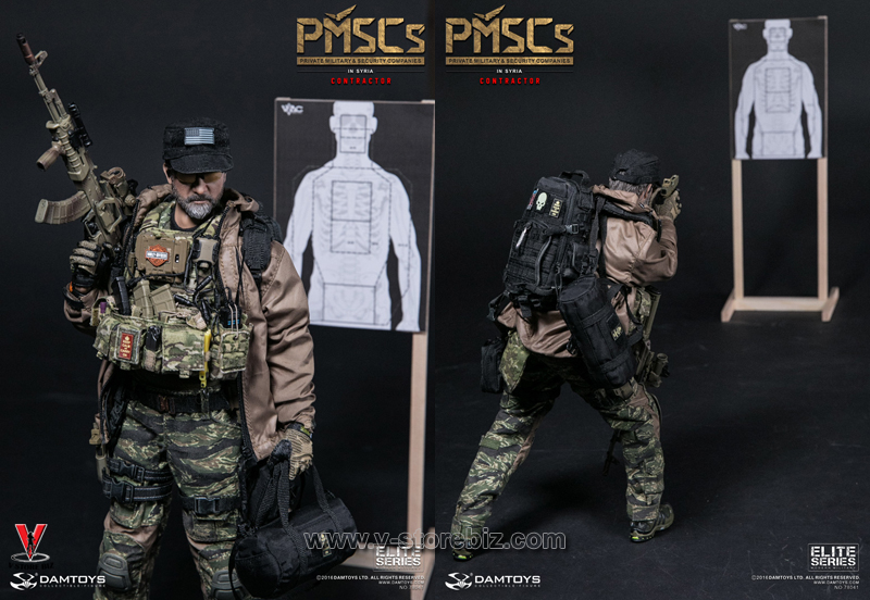 1//6 Scale DAMTOYS 78041 PMSCs CONTRACTOR IN SYRIA HANDS SET X3