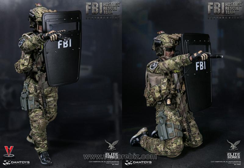 Damtoys 1//6 Dam78042 Fbi Hostage Rescue Team  Agent Action Figure Toy In Stock