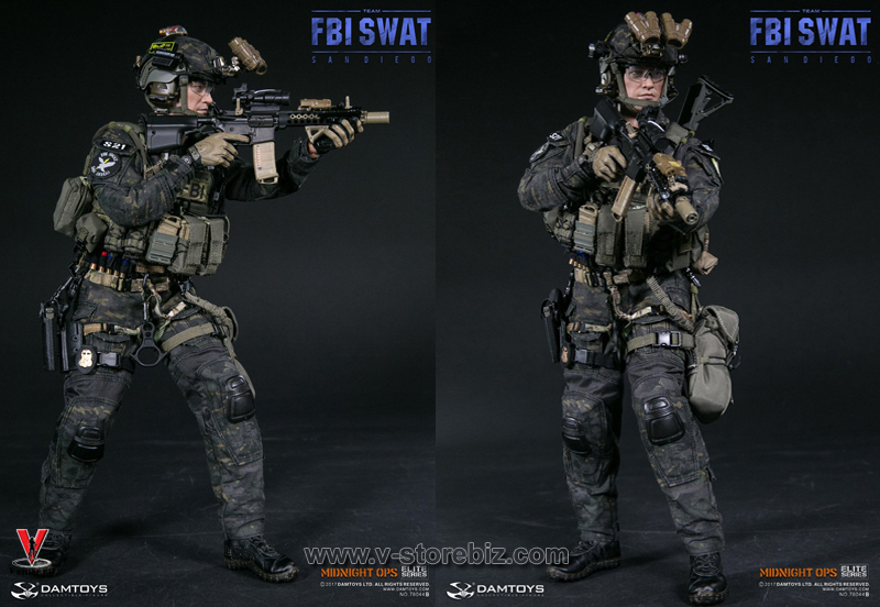 DAMToys 78044B FBI SWAT Team Midnight Ops Agent San Diego