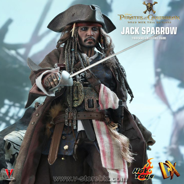 Hot Toys DX15 Pirates of the Caribbean Jack Sparrow Figures 1//6 Scale Bottle X 2