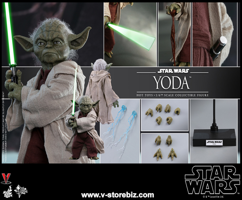 Hot Toys MMS495 Star Wars Episode II: Attack of the Clones Yoda