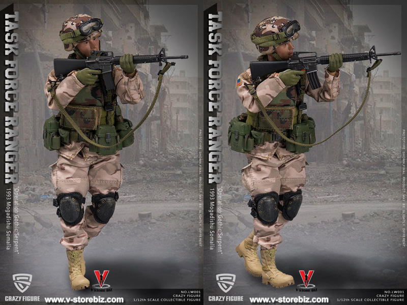 "Crazy Figure LW001 75th Ranger Chalk Leader ""Operation Gothic Serpent"""