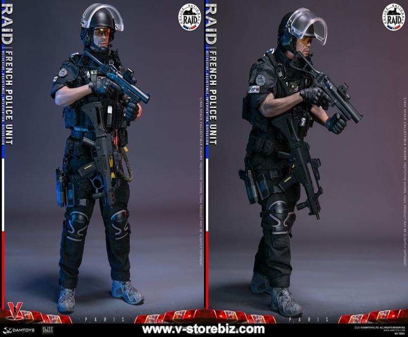- RAID à Paris en stock USA DAMTOYS 78061 français unité de police