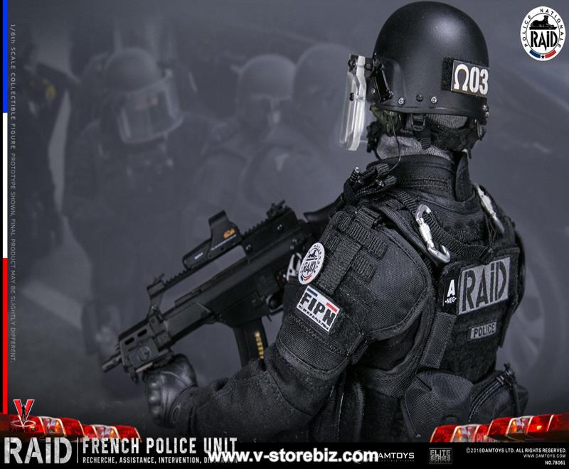 DAMTOYS DAM78061 1//6th French Police Unit Raid in Paris uniform model
