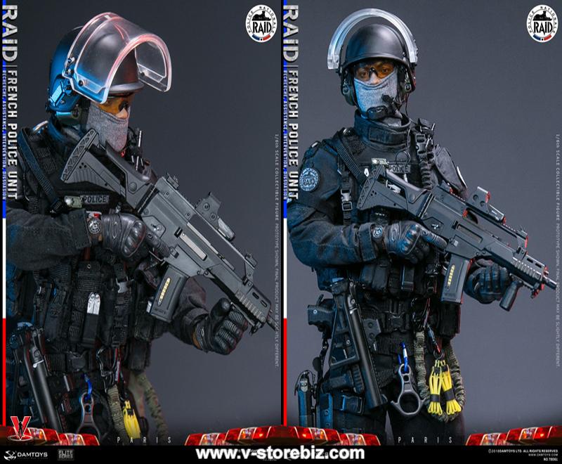 DAMTOYS DAM78061 1//6th French Police Unit Raid in Paris Vest and bag model