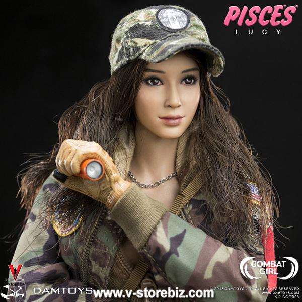DAMToys Female Action Figure Combat Girl Pisces Nana Deluxe Box Set 1//6 Phicen
