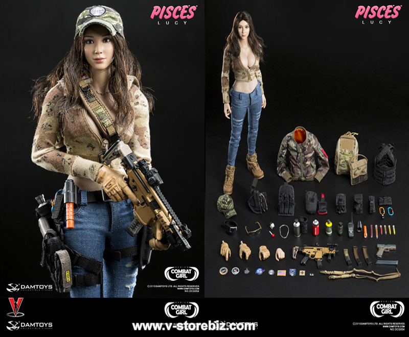 1//6 scale Combat Girl Series Female PMC GEMINI VICKY Tan 20 Round M4 Mags x2
