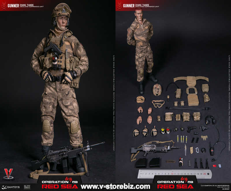 "DAM DMS007 PLA Navy Marine Corps ""Jiao Long"" S.O. Brigade Operator SAW Gunner"
