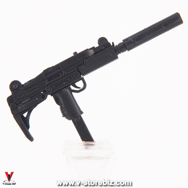 4D Model UZI Submachine Gun (Black)