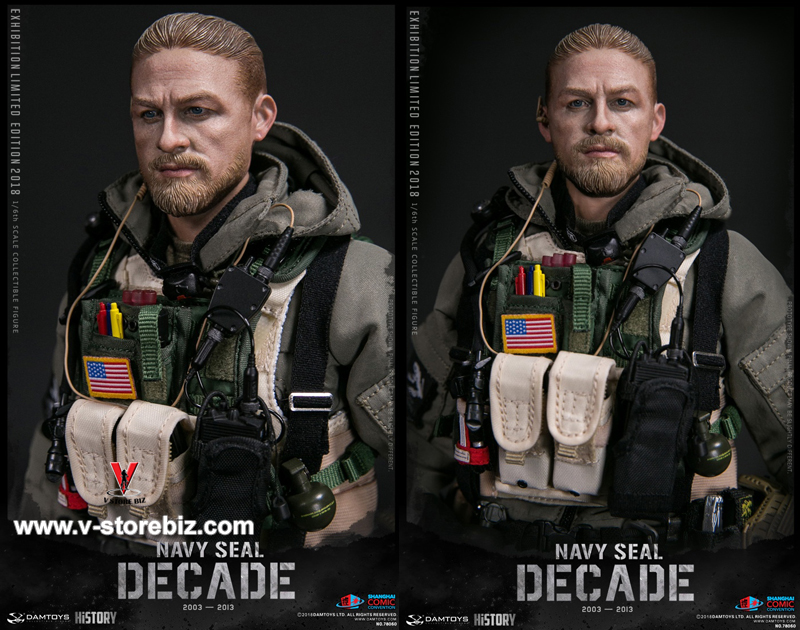 2018 SHCC DAMTOYS 78060 1//6 Decade Navy Seal 2003-2013 Action Figure Belt Strap