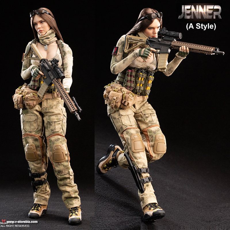 Waist Bag for VERYCOOL VCF-2037A A-TACS FG Women Soldier JENNER 1//6 Figure