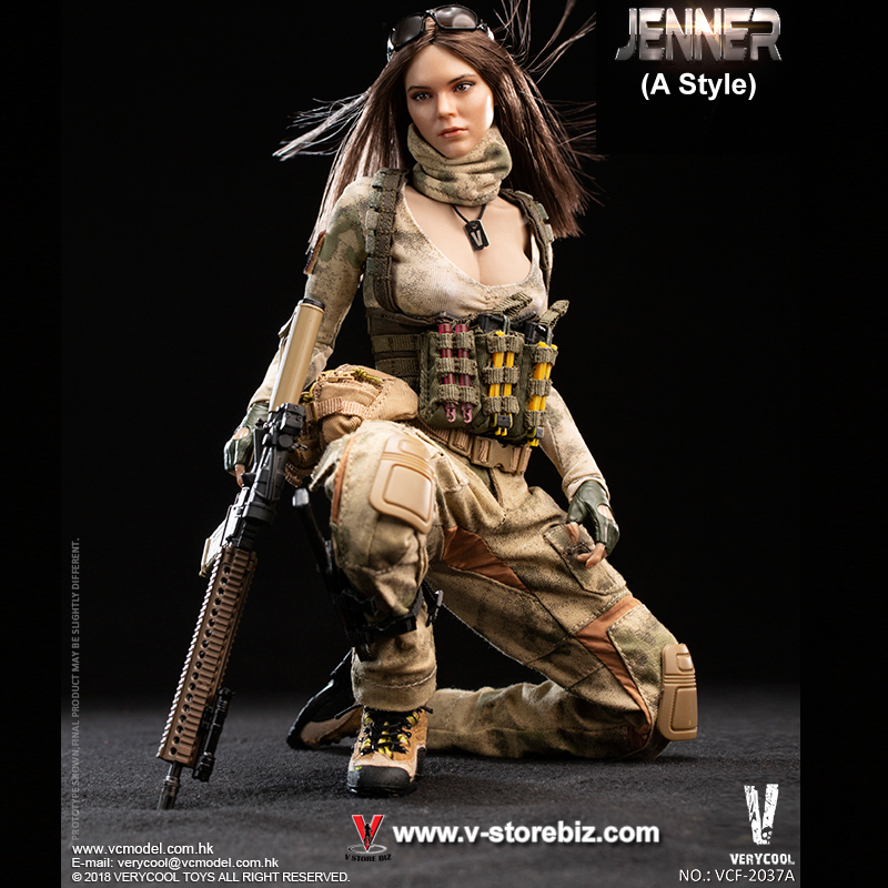 JENNER Pre-order 1//6 Scale VERYCOOL VCF-2037 A-TACS FG Double Women Soldier