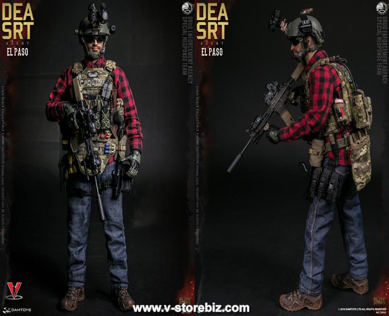 2 PC DAM 78063 1//6 DEA SRT Special Response Team Agent El Paso Flash bomb model