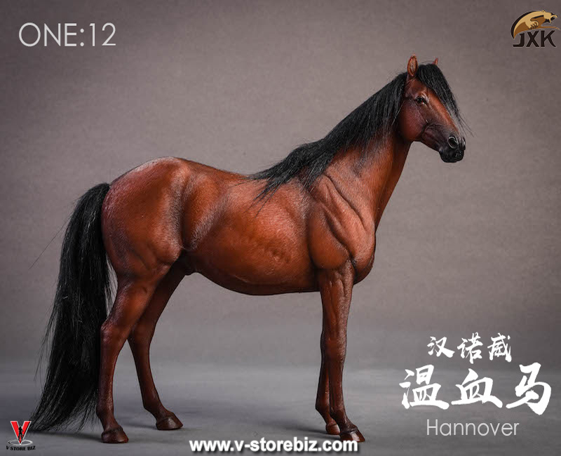 JXK Studio JXK013B 1/12 Cinnamon Horse & Saddle