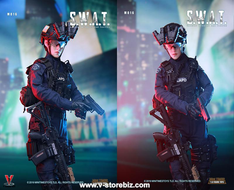 1//6 Scale Tactical Female Shooter Black Skull molle Vest