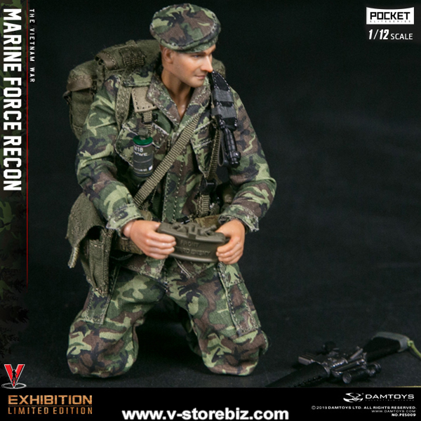 DAMTOYS PES009 1/12 Pocket Elite Series Marine Force Recon in Vietnam (WF2019 Shanghai Convention Edition)