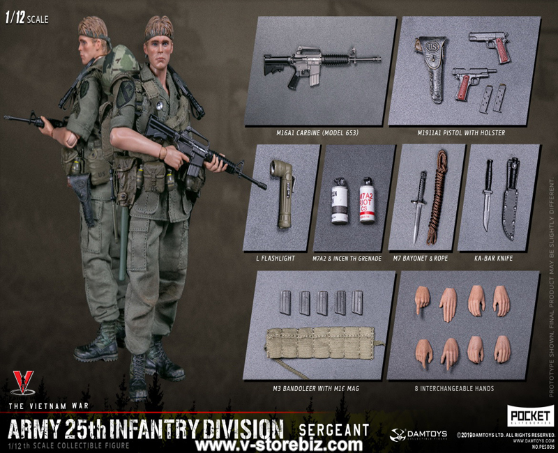 DAMToys PES005 Pocket Elite Series US Army 25th Infantry Division Sergeant