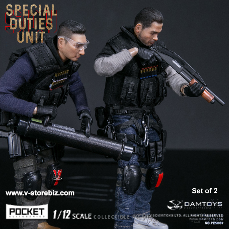 DAMToys PES007 & PES008 1/12 Pocket Elite Series Hong Kong SDU Set of 2
