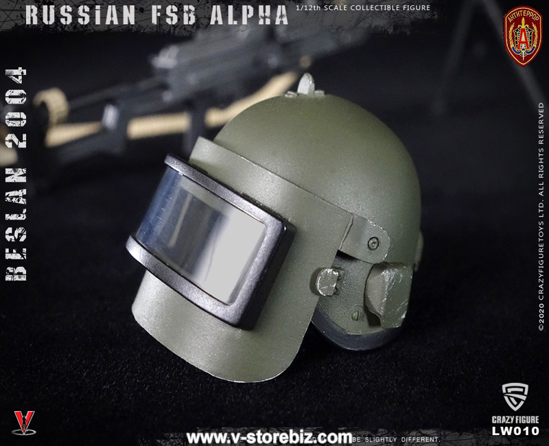 Crazy Figure LW010 1/12 Russian Alpha Special Forces Machine Gunner