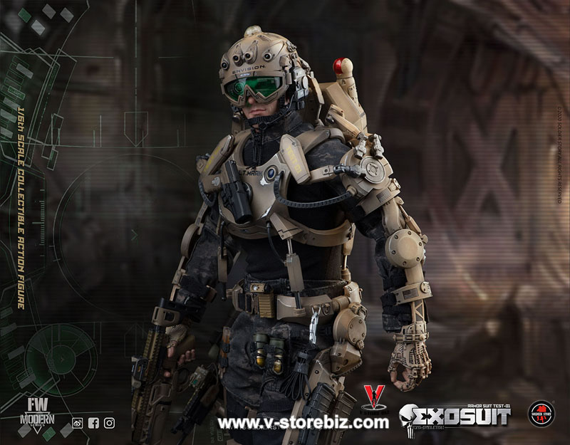 Soldier Story SS122 EXO-Skeleton Armor Suit Test 01
