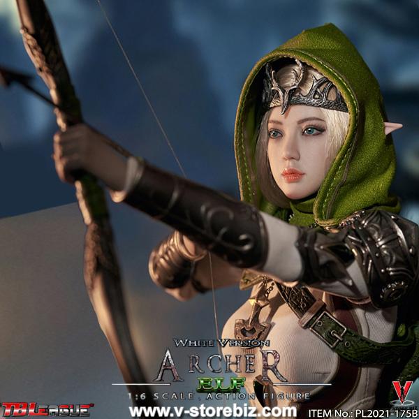 TBLeague PL2021-175B Female Elf Archer - White