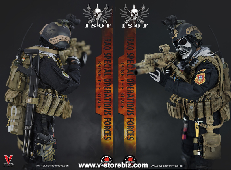 Soldier Story 1//6 Scael ISOF Iraq Special Operations Forces MICH 2000 Helmet Set