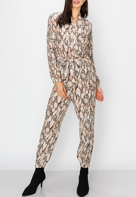 Regal Snake Print Jumper