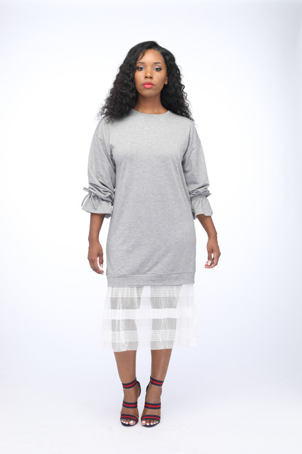 Tulle Sweatshirt Dress