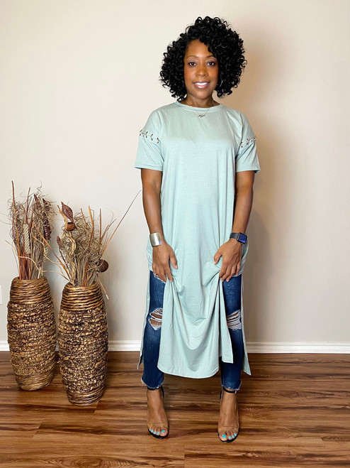Sage Split Tunic (RESTOCKED)