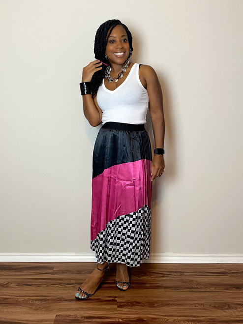 Mixed Emotions Pleated Skirt