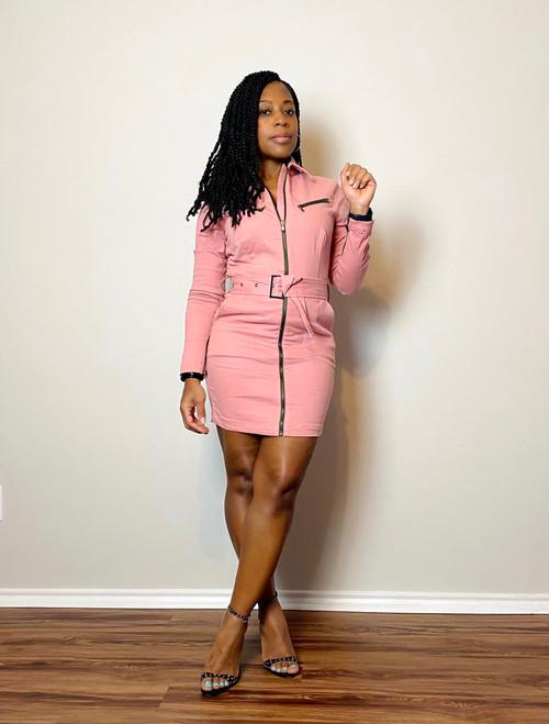Cotton Candy Zipper Dress