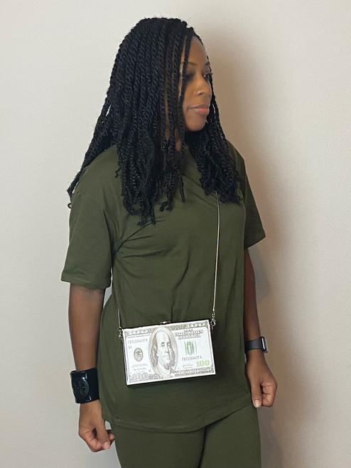 She's A Boss  Box Clutch Shoulder Bag