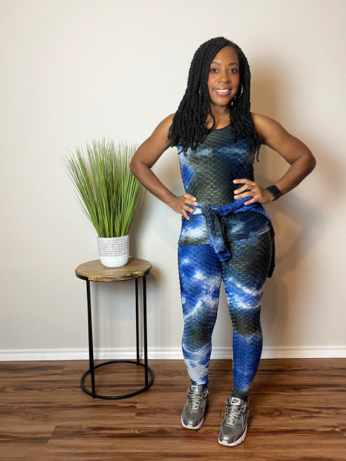 Blue Chill Tie Dye 3 Piece Set