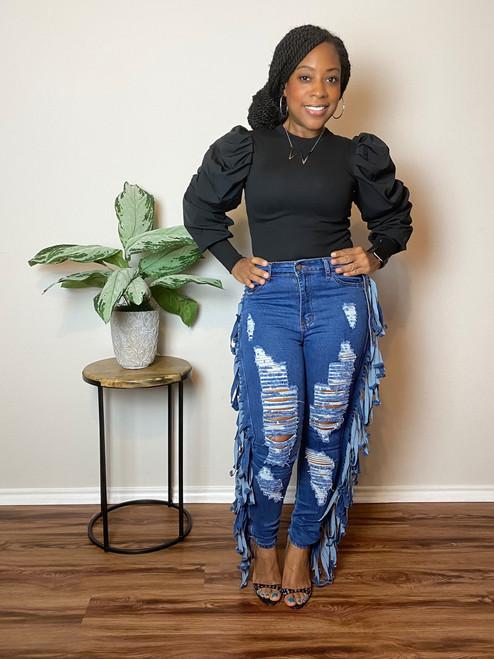Get It Fringe Jeans